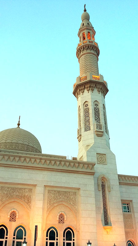 Mosquée à Dubaï aux Emirats Arabes Unis