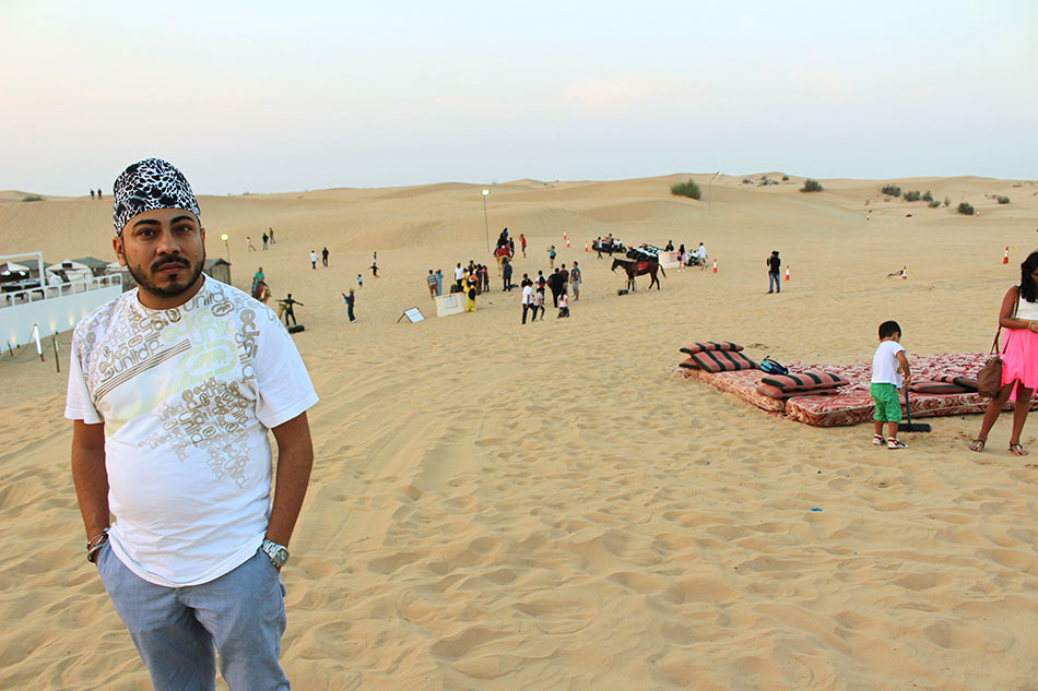 Activités lors d'un safari dans le désert de Dubaï aux Emirats Arabes Unis