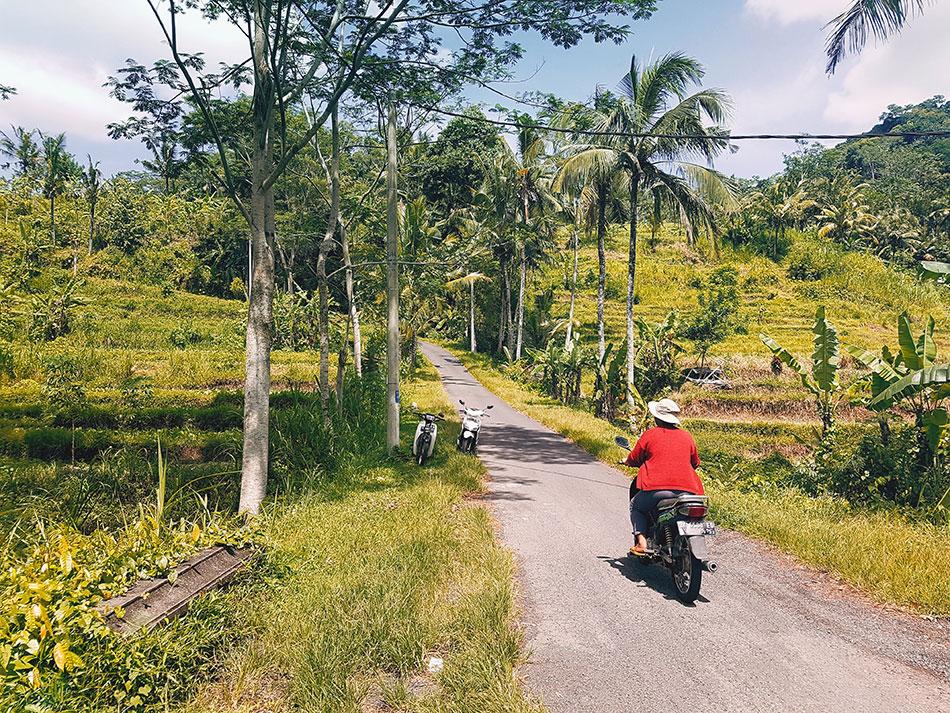 A Bali, on conduit les scooters à gauche.