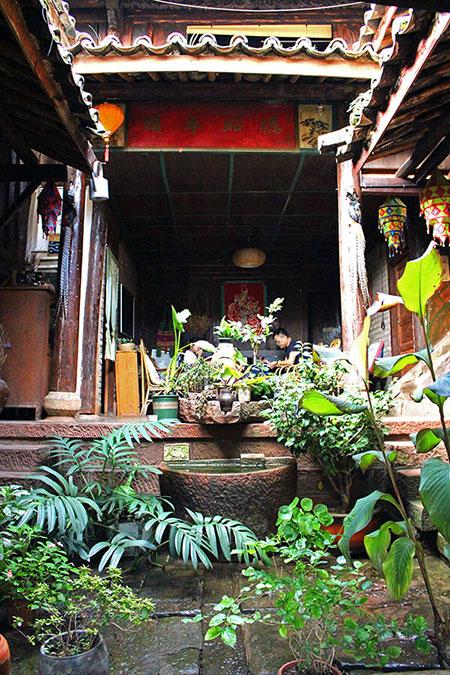 Cour intérieure du Nuodeng Gui Zhen