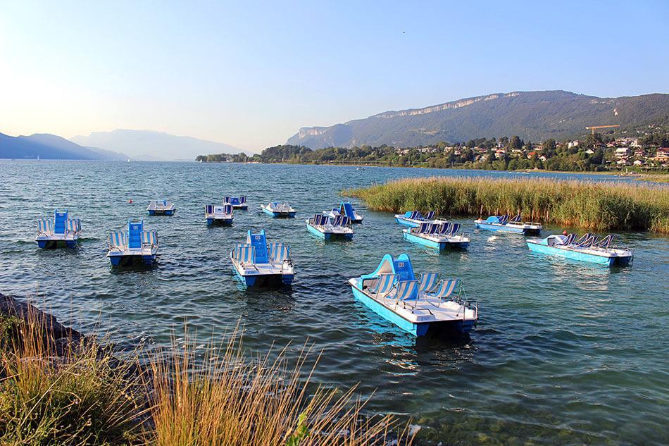 Lac du Bourget, proche de Chambéry en Savoie (France)