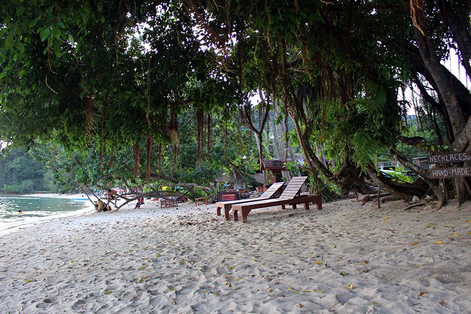Plage de Klong Kloi au sud-ouest de l'île de Koh Chang dans la province de Trat en Thaïlande.
