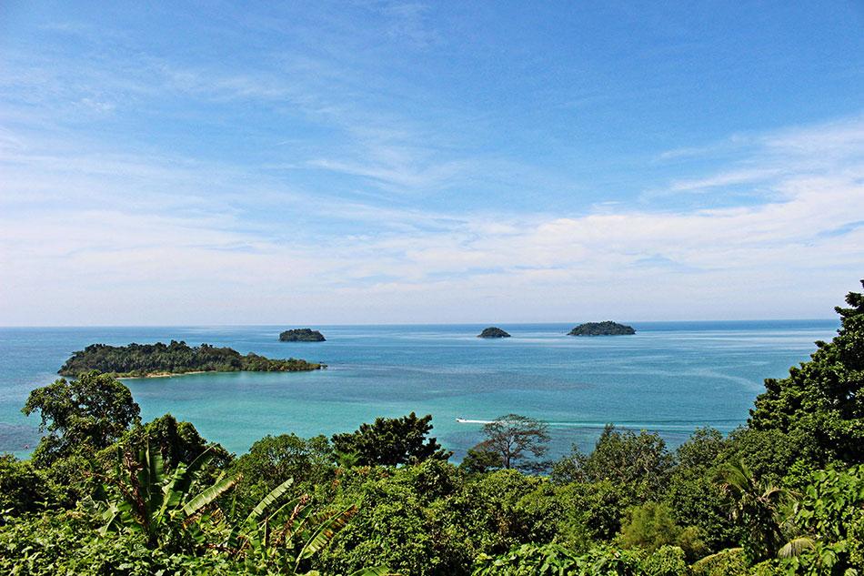 Point de vue de Kai Bae sur l'île de Koh Chang en Thaïlande