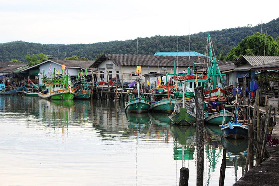 Village de pêcheurs de Salak Phet à Koh Chang en Thaïlande