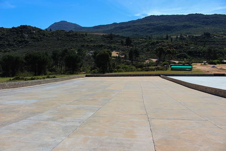 Lieu de séchage du rooibos à Skimmelberg en Afrique du Sud