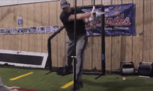 Backspin Tee Swing Experiment on Not Using Hips