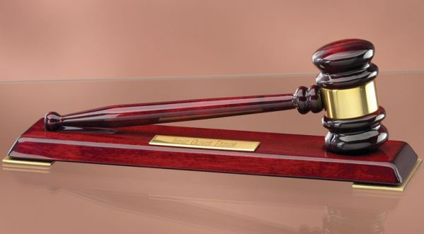 GV138 Rosewood Gavel Award