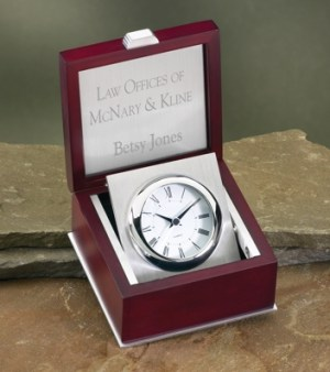 Rosewood Box Clock 3369C