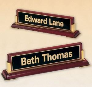 588 Executive Name Plate