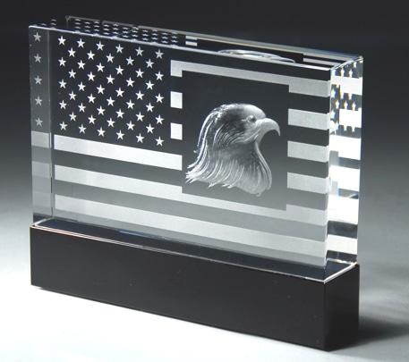 Crystal American Flag CRY54