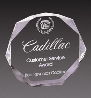 Octagon Acrylic Award NFS-D