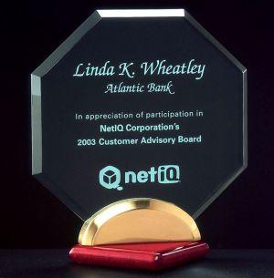 Octagon Acrylic Award A6546