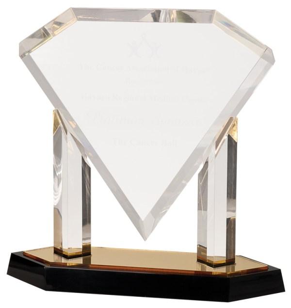 Gold Floating Diamond