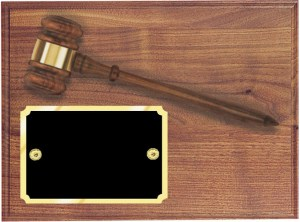 AGP-20 Gavel Plaque