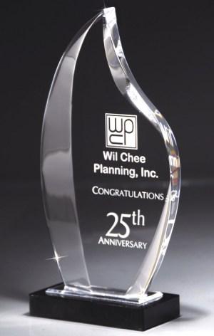 DT236 Flame Acrylic Award
