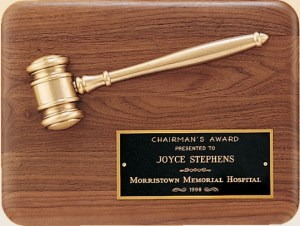 PG1686 Gavel Plaque