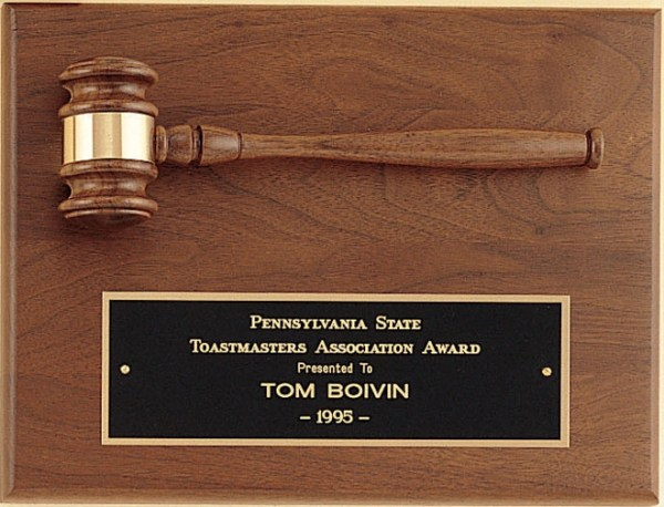 PG2782 Gavel Plaque