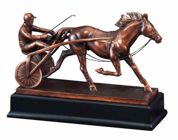 Sulky Harness Racing Statue RFB031