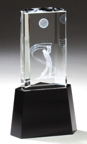 Crystal Golfer Silhouette Trophy CRY340