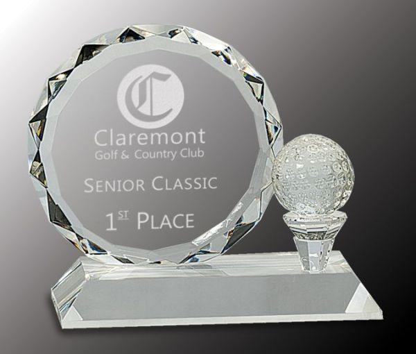 CRY161 Crystal Golf Award
