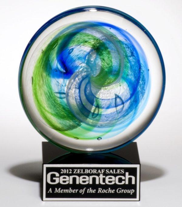 2107 Art Glass Disk Award