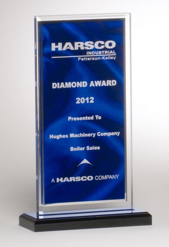 Blue Satin Acrylic Award A6865 A6866 A6867