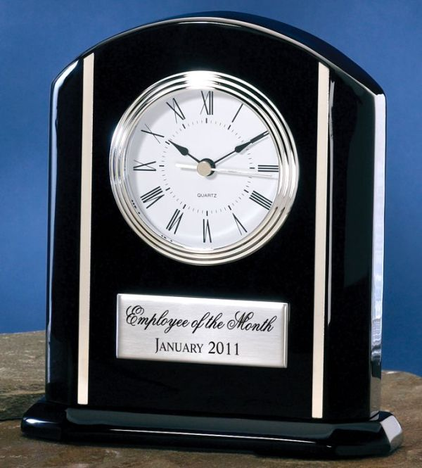 Black Desk Clock 3649BC