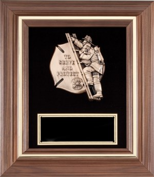 AT7 Serve & Protect Firefighter Plaque