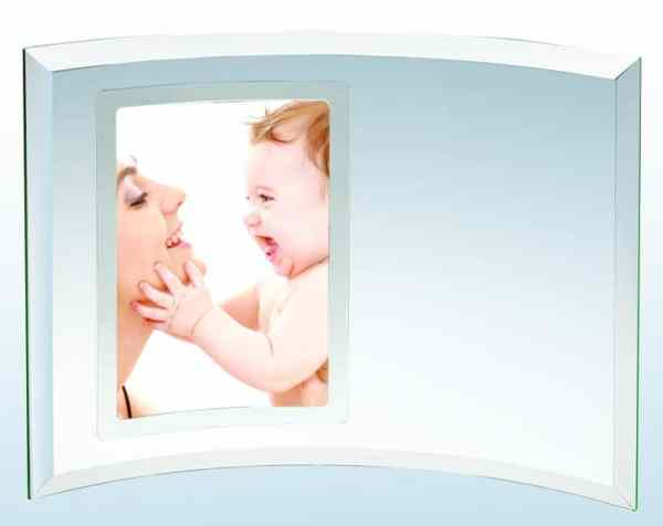 Glass Crescent Picture Frame-4108