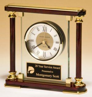 BC956 Rosewood Pillar Clock