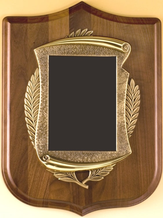 Scroll on Shield Plaque-4504