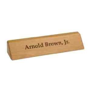RA28 Red Alder Name Plate