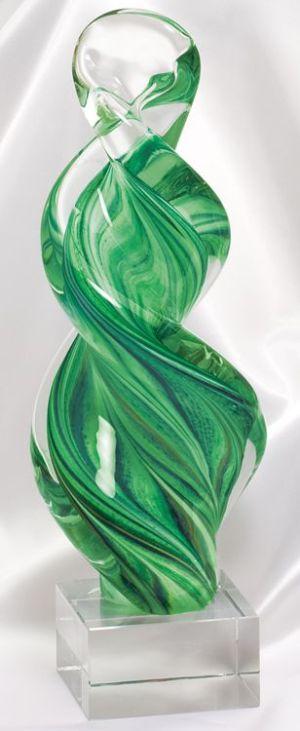GLSC8 Green Twist Glass Art