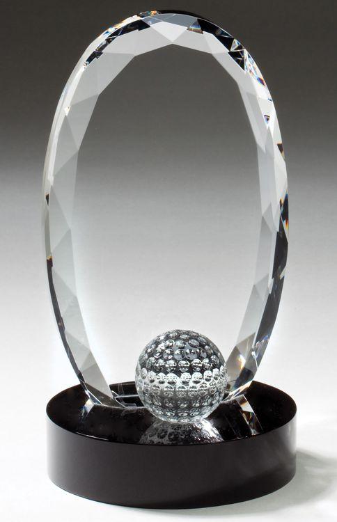 CRY336 Crystal Golf Trophy