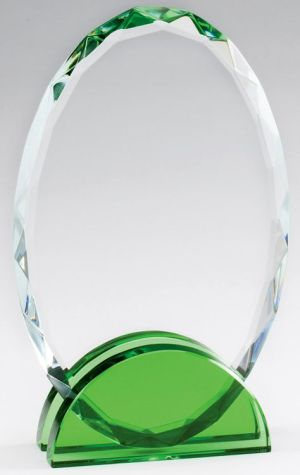CRY474 Crystal Oval Award