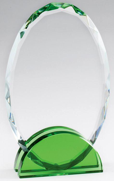 CRY474 Crystal Oval Award