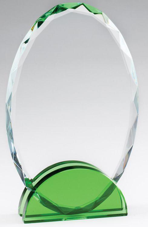 CRY475 Crystal Oval Award