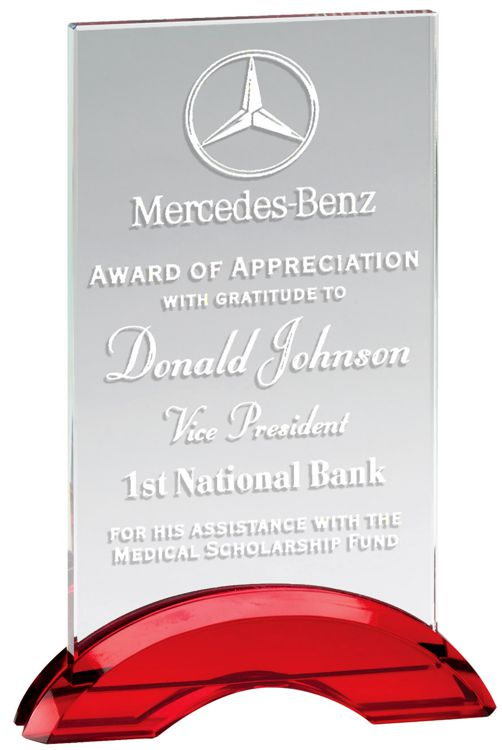 CRY502 Red Arc Glass Award