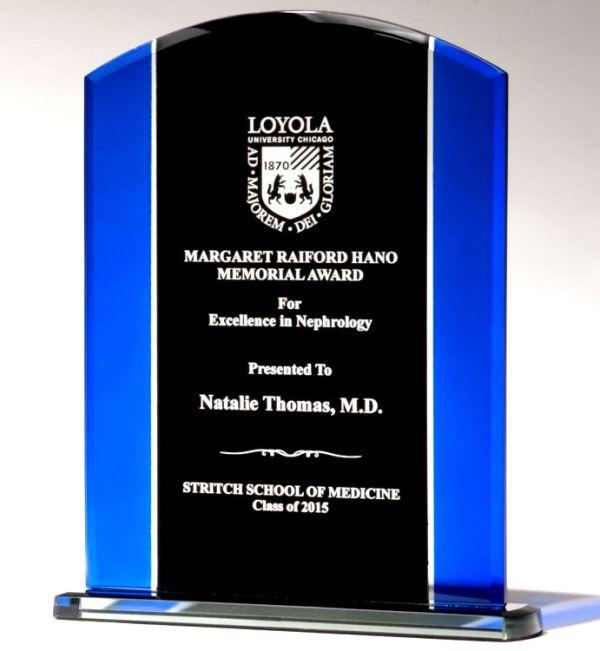 Black & Blue Glass Award G2658 & G2659
