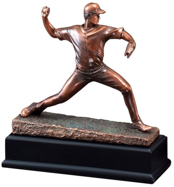 Baseball Pitcher Statue Trophy RFB041