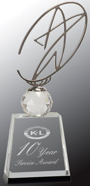 CRY172M Silver Star Metal Trophy