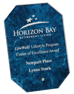 GL126BL Octagon Glass Award