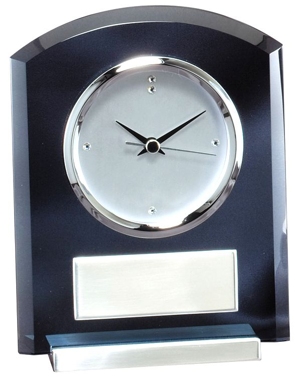 Smoked Glass Clock GK38