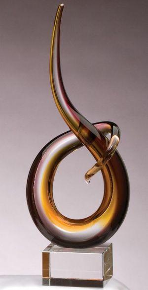 GLSC4 Golden Brown Glass Art