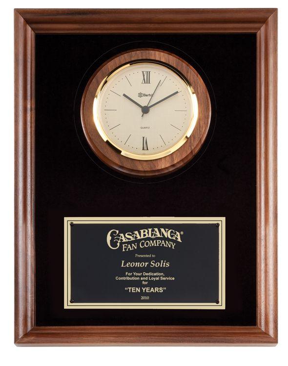 P920 Walnut Wall Clock