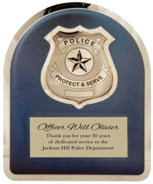 HER103 Police Plaque