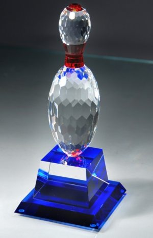 Crystal Bowling Pin Trophy CRY141