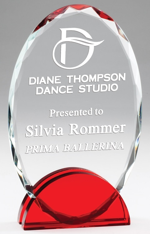 CRY568 Crystal Oval Award
