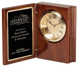 Walnut Book Clock WC36