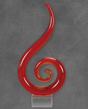 Red Fire Glass Art 9211035